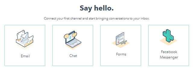 HubSpot Conversations - Email chat forms facebook messenger